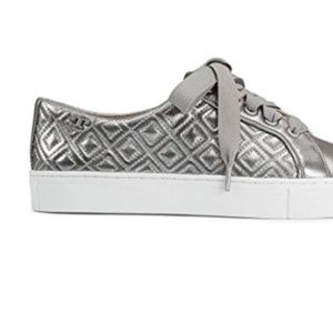 e63d45f294218 Tory Burch Shoes - Tory Burch Marion Quilted Metallic Lace-Up Sneaker